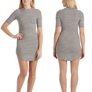 NWT April Spirit Striped Knit Bodycon Dress